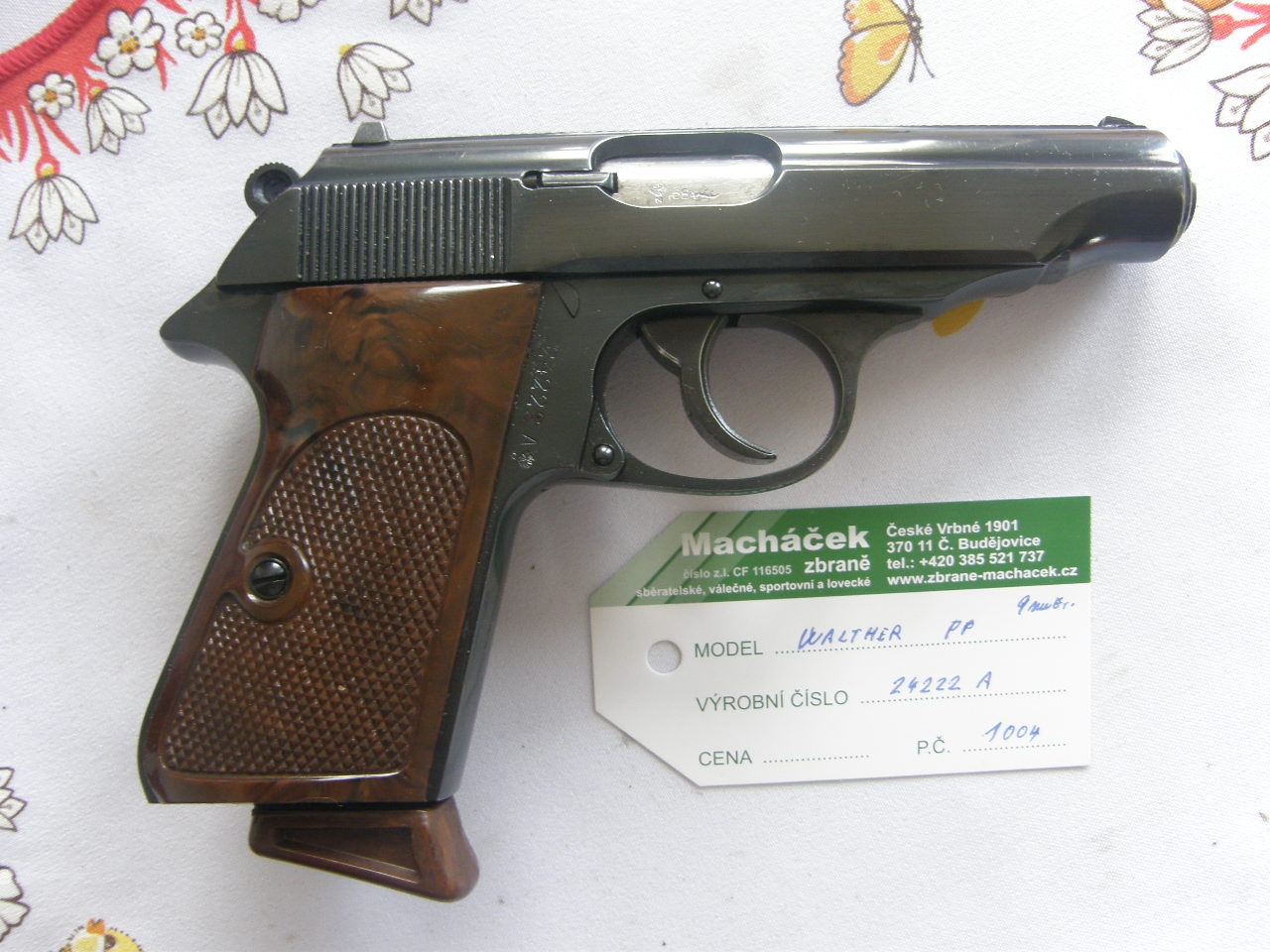 Walther PP v.č.24222 A r.9 mm Br.