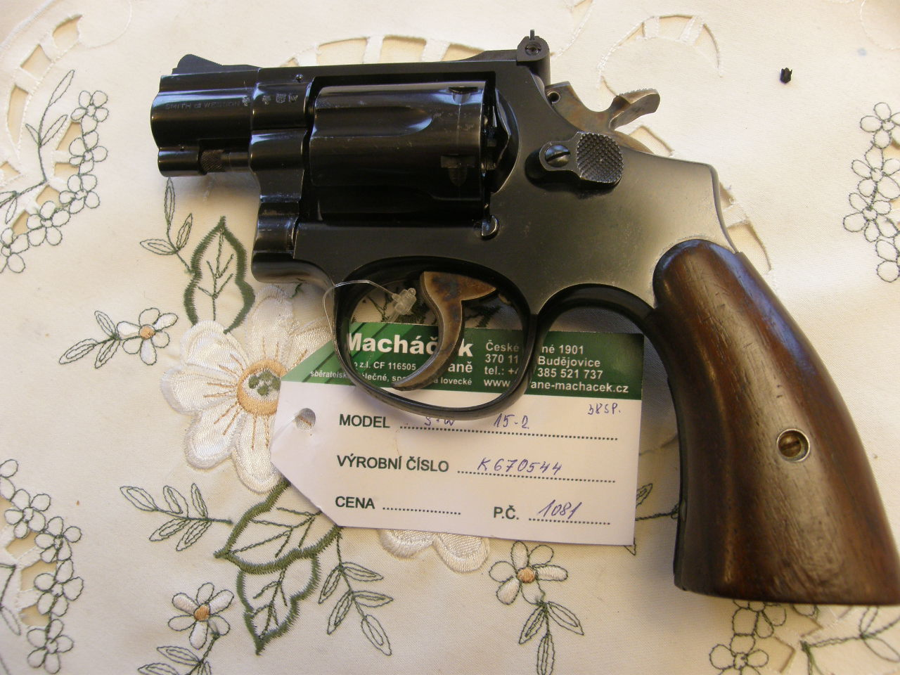 Smith Wesson Mod. 15 v.č.K670544 r.38 Sp.