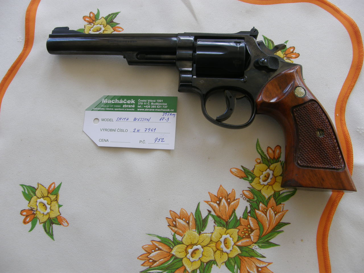 Revolver Smith Wesson Mod. 18-3 v.č. 2K7961 r. 357 Mag.