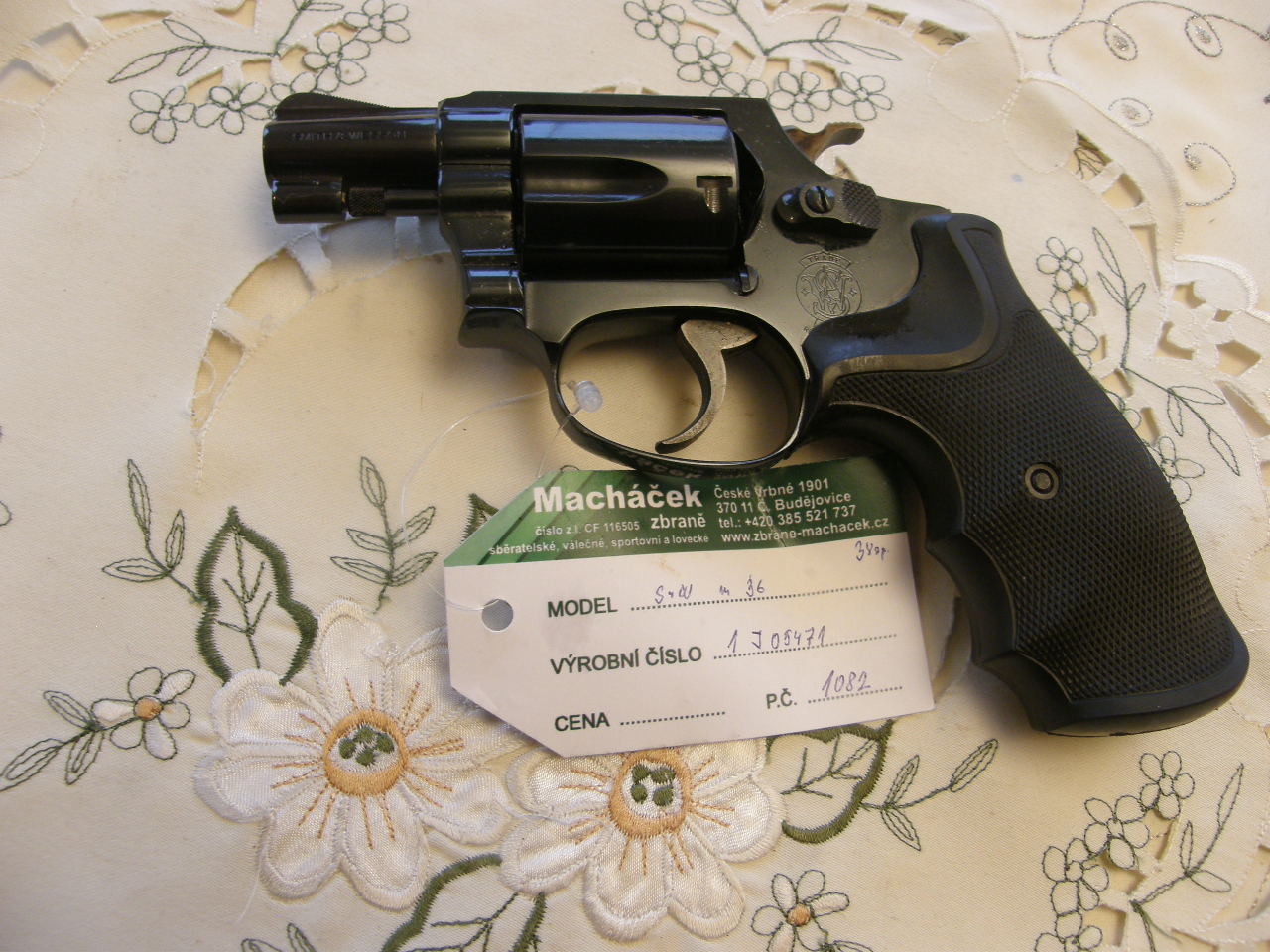 Revolver Smith Wesson Mod. 36 v.č.J05471 r. 38