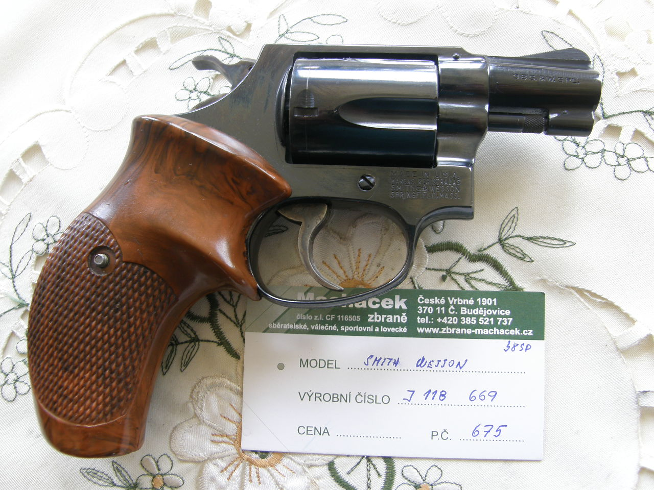 Revolver Smith Wesson Mod. 36 r. 38 SP v.č.J118669