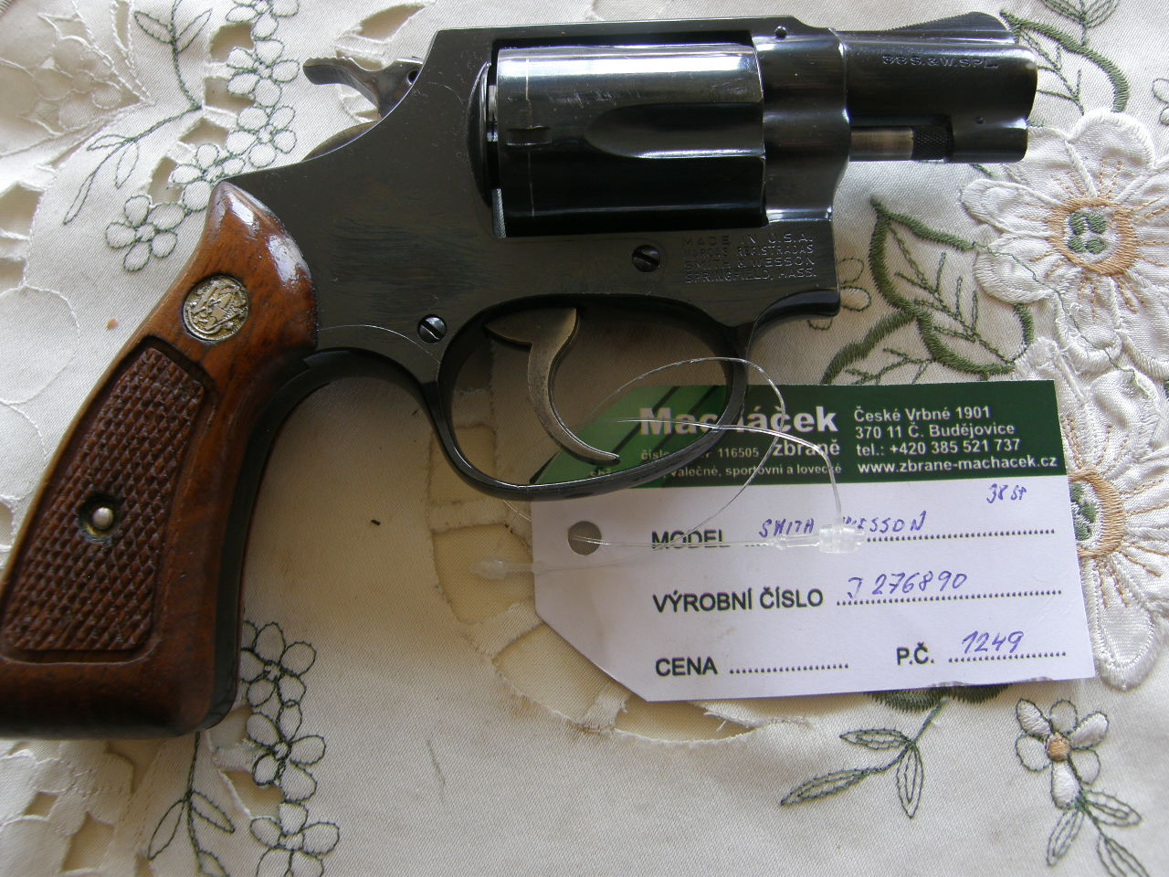 Revolver Smith Wesson Mod.36 v.č.J277890 r.38 SP.