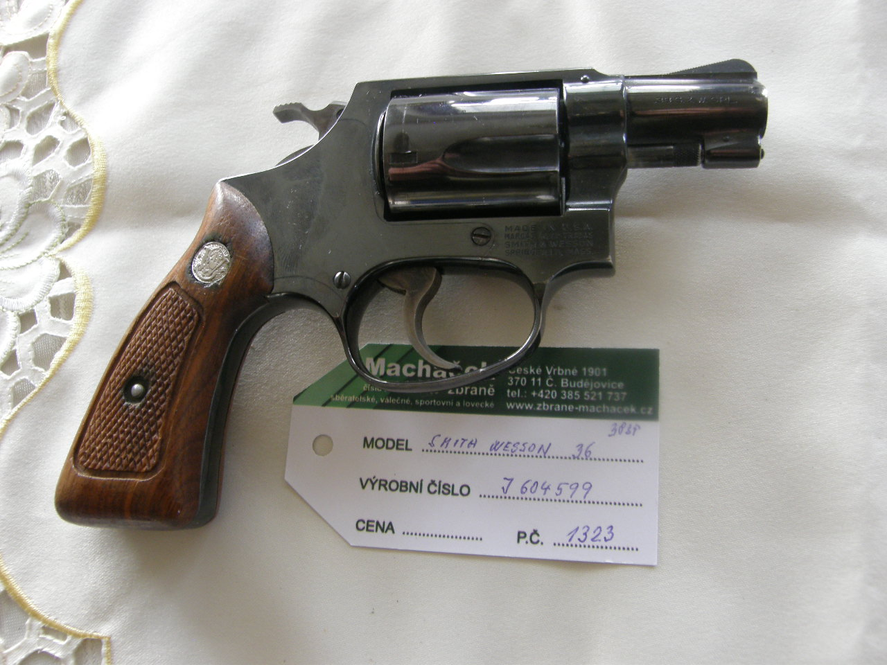 Revolver Smith Wesson Mod.36 v.č.J 604599 r. 28 SP.