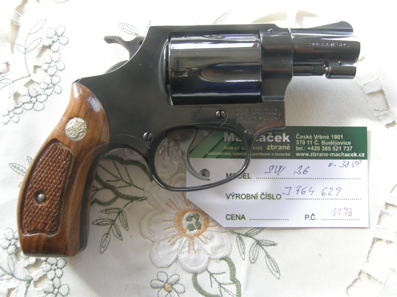 Revolver Smith Wesson Mod. 36 v.č. J764629 r. 38 Sp