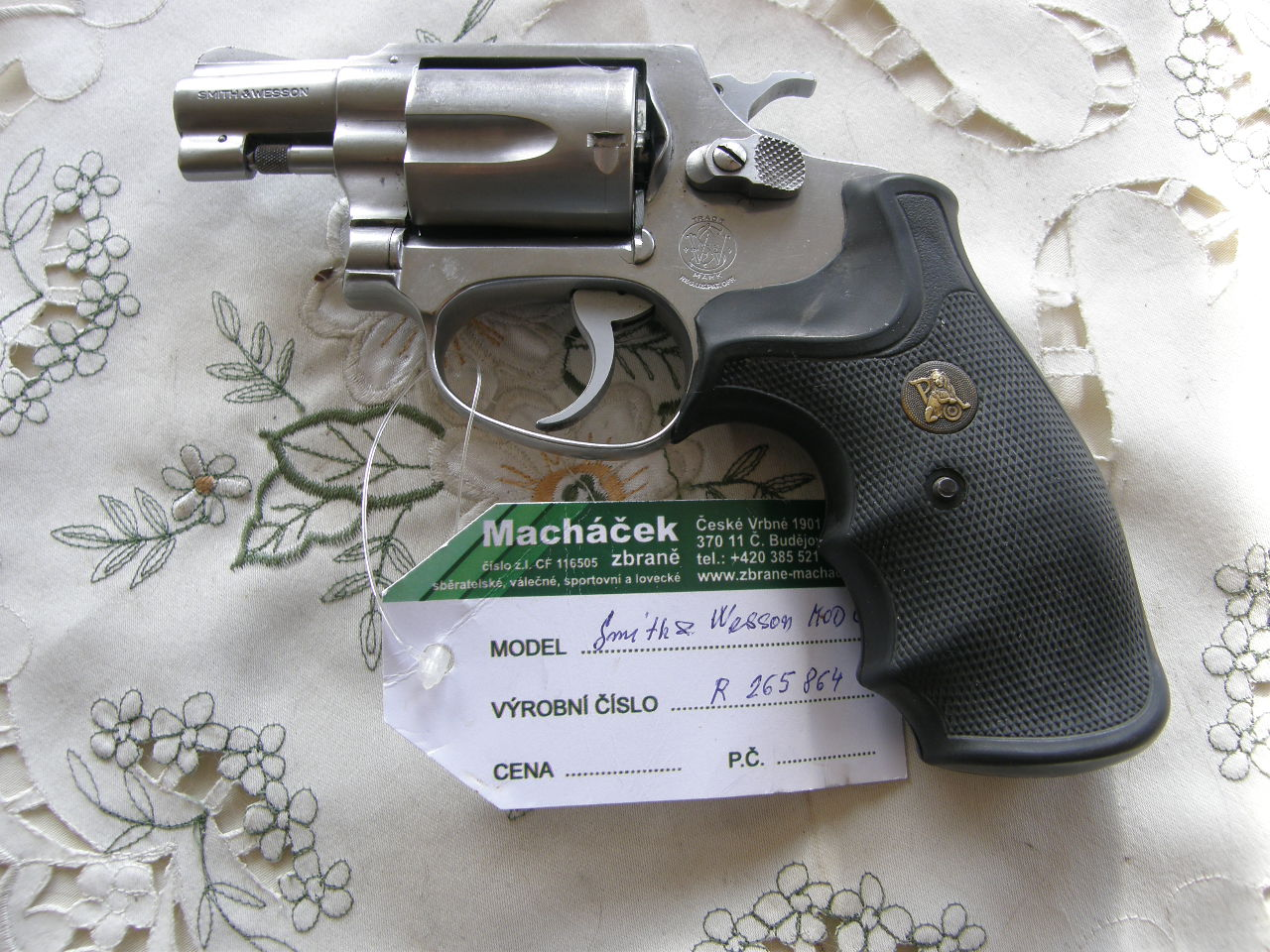 Revolver Smith Wesson Mod. 60 v.č.R265864 r. 38 Sp.