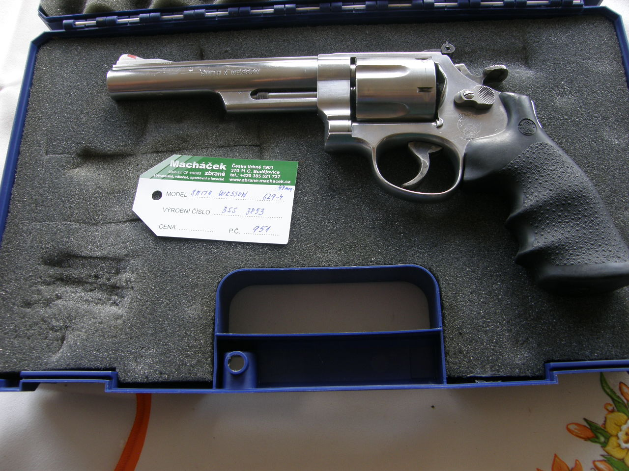 Revolver Smith Wesson Mod.629-4 v.č BBS 3853 r. 44 Mag