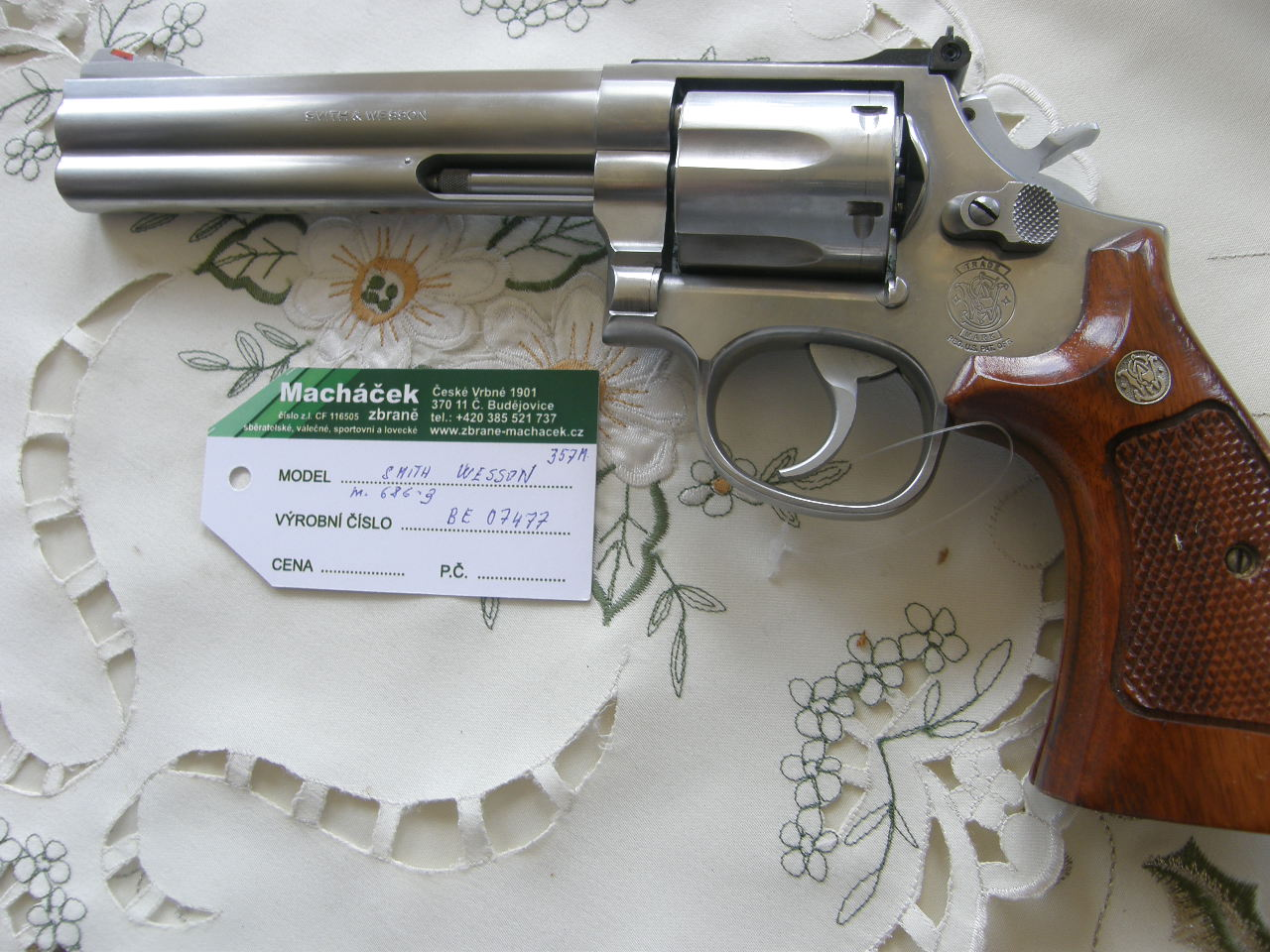 Revolver Smith Wesson Mod.686 v.č BE07477 r.357Mag.