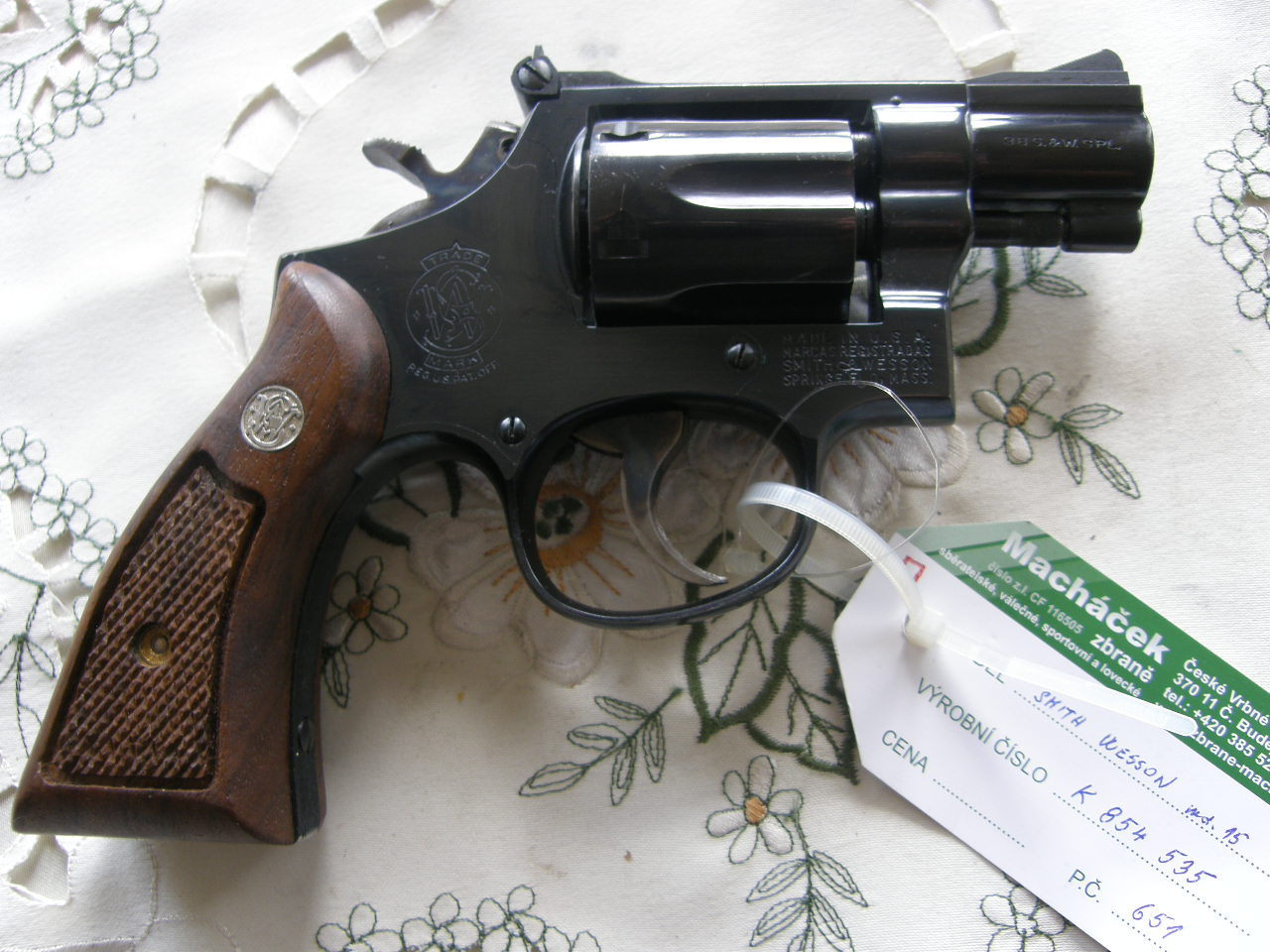 Revolver Smith wesson Mod. 15 v.č.K 854535 r. 38 SP