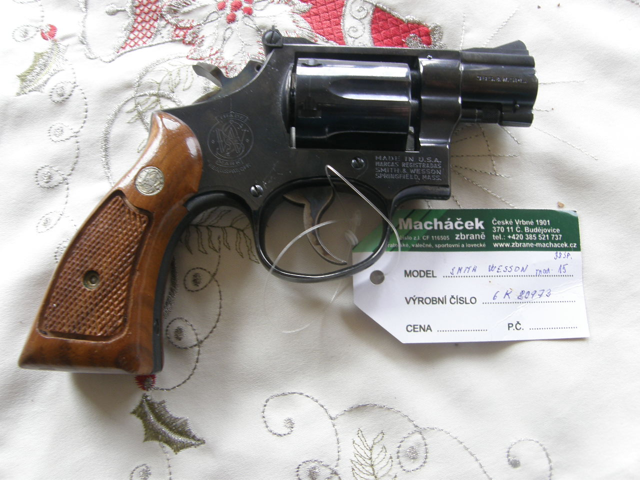 Revolver Smith Wesson Mod. 15 v.č.6K80973 r. 38 Sp.